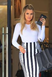 Khloe Kardashian Style - Shopping in Beverly Hills, CA 2/23/2016
