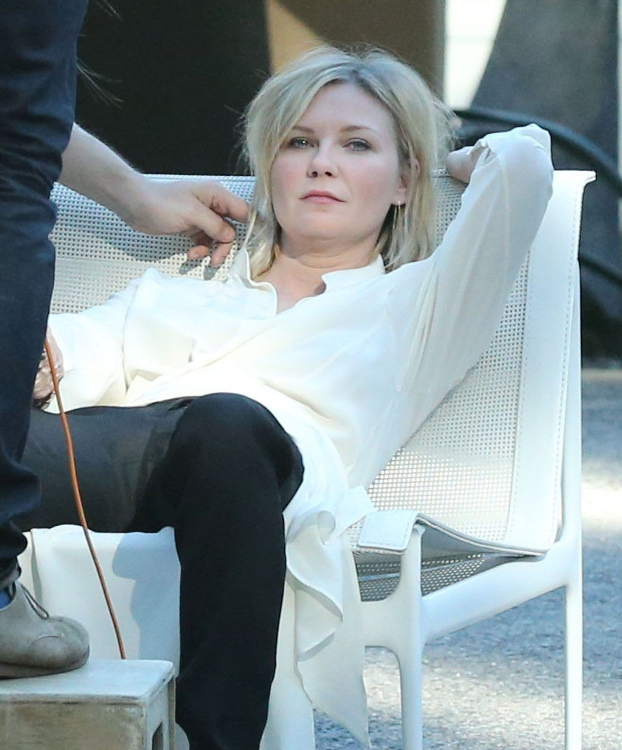 Kirsten Dunst On The Set Of A Photo Shoot In Los Angeles