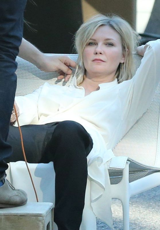 Kirsten Dunst - On the Set of a Photo Shoot in Los Angeles, February 2016