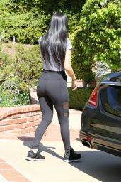 Kourtney Kardashian in Tights - Out in Beverly Hills, CA 2/25/2016