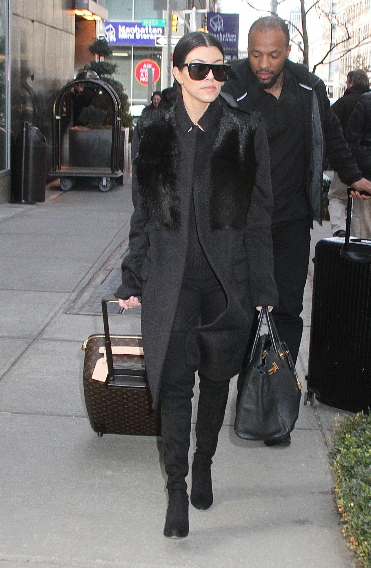 Kourtney Kardashian - Leaving Her Hotel in New York City, NY 2/12/2016