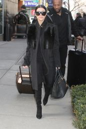 Kourtney Kardashian - Leaving Her Hotel in New York City, NY 2/12/2016