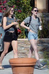 Kristen Stewart Leggy in Jeans Shorts - Out in Los Feliz 2/12/2016
