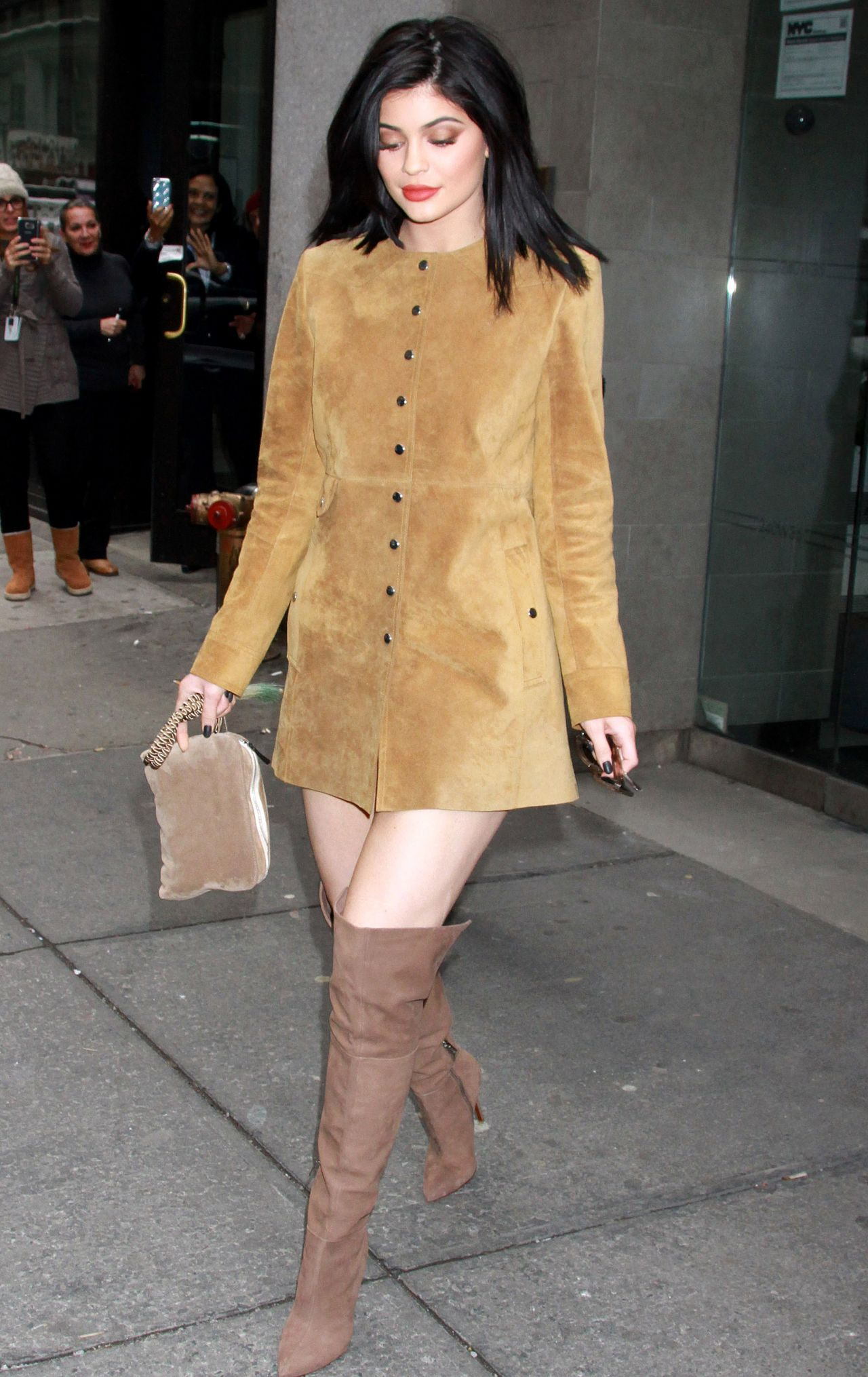 kylie jenner style  leaving her hotel in new york city