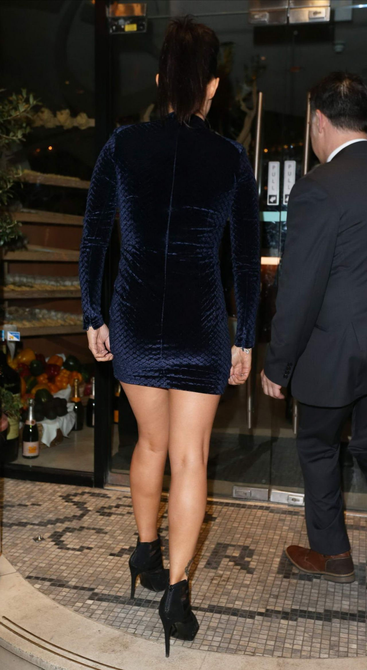 Kym Marsh Night Out Style San Carlo Restaurant In