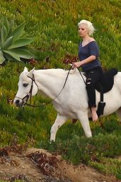 Lady Gaga - Riding a Horse in Malibu, January 2016