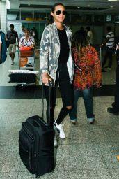 Lais Ribeiro Airport Style - Sao Paulo, Brazil 2/11/2016