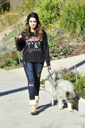 Laura Marano - Out With Her Dog in Los Angeles, February 2016