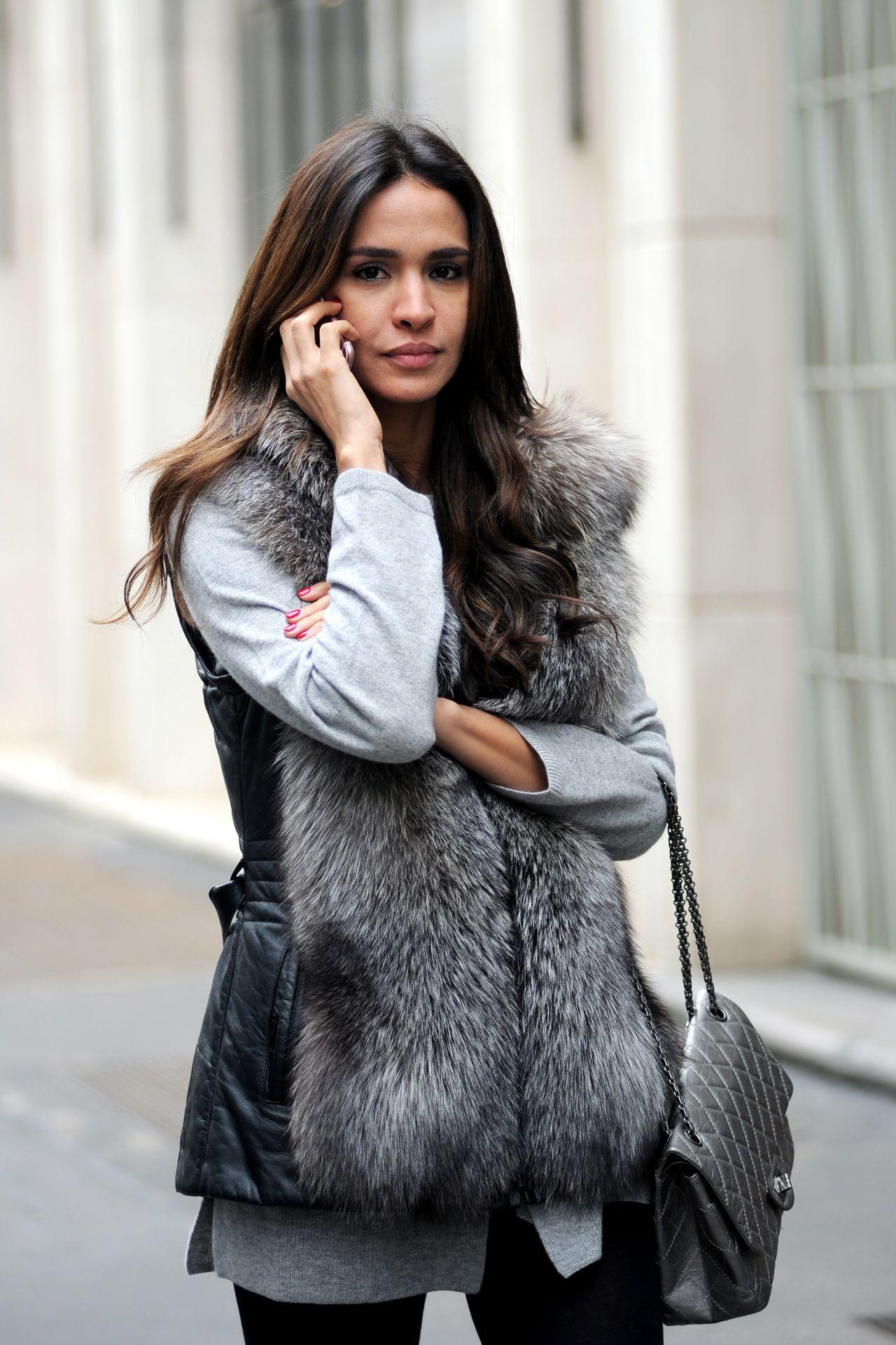Leila Ben Khalifa Street Fashion Milan January 2016 470251