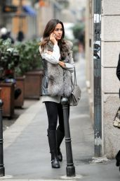 Leila Ben Khalifa Street Fashion - Out in Milan, January 2016