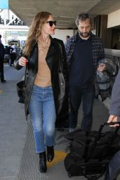 Leslie Mann in Jeans at LAX Airport in LA 2/2/2016