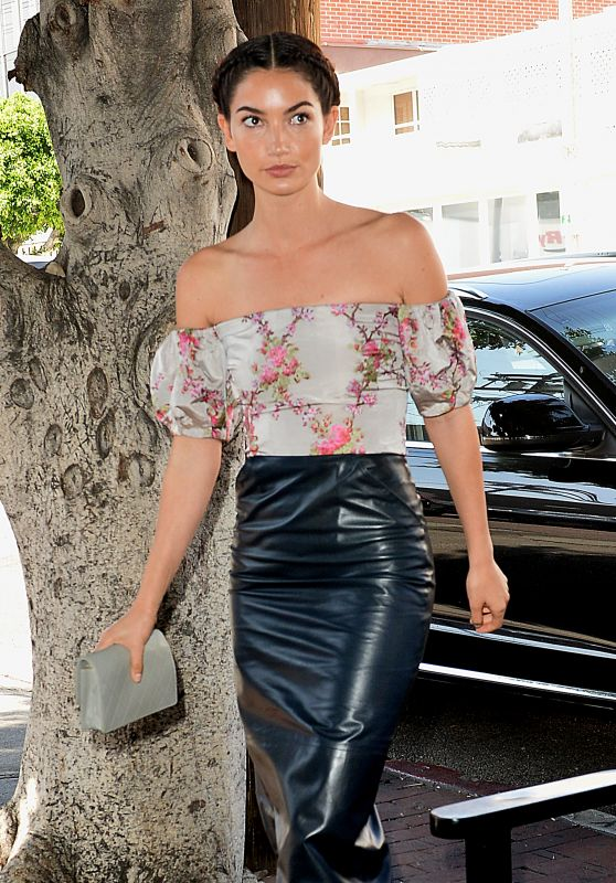 Lily Aldridge Style - Vanity Fair and Stuart Weitzman Luncheon 2/26/2016