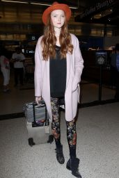 Lily Cole at LAX Airport in Los Angeles 2/26/2016