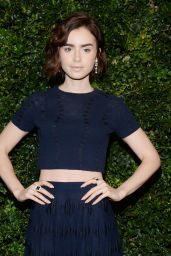 Lily Collins – Chanel and Charles Finch Oscar Party in Los Angeles, CA 2/27/2016