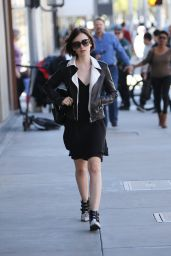 Lily Collins - Enjoying a Shopping Trip on Rodeo Drive in Los Angeles 2/6/2016