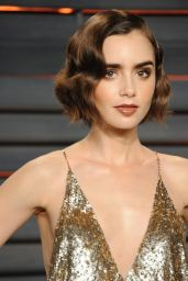 Lily Collins – Vanity Fair Oscar 2016 Party in Beverly Hills, CA
