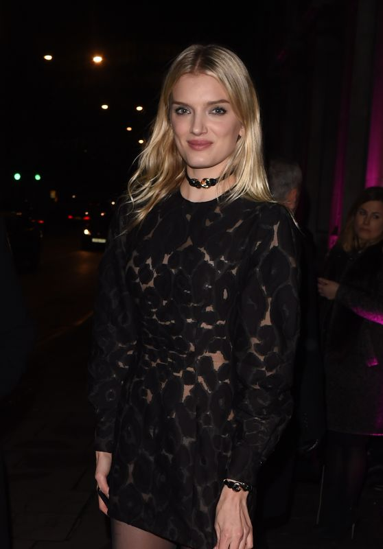 Lily Donaldson - The Naked Heart Foundation Fabulous Fund Fair Fashion Party in London, February 2016