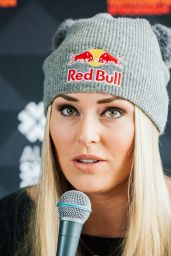 Lindsey Vonn - Press Conference Ahead of the FIS Ski World Cup Parallel Slalom City Event in Stockholm, February 2016