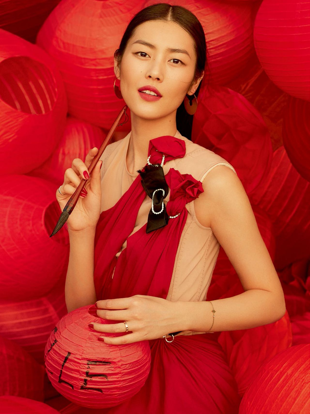 Liu Wen Photo Shoot For Elle China March 2016