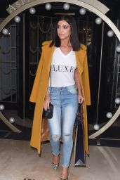 Lucy Mecklenburgh Casual Style - at the Aspinal Fashion Show in London 2/22/2016