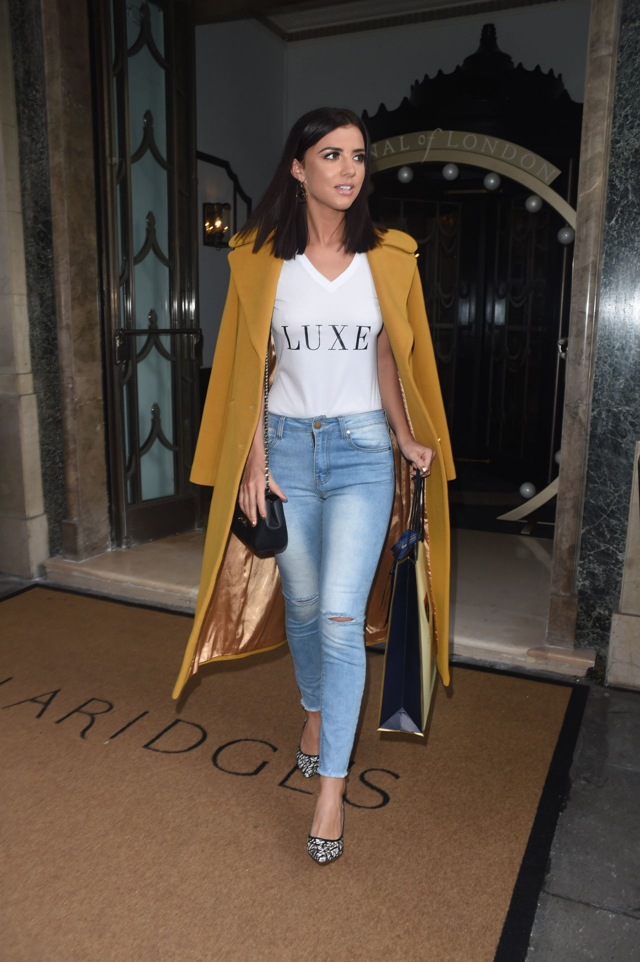 Lucy Mecklenburgh Casual Style At The Aspinal Fashion Show In London 2 22 2016