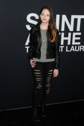 Mackenzie Foy – Saint Laurent Show at The Palladium in Los Angeles 2/10/2016