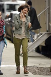Maggie Gyllenhaal on the Set of