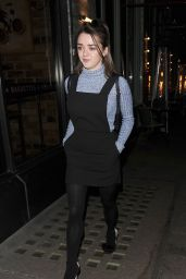 Maisie Williams Night Out - Leaving Sexy Fish Restaurant in London //