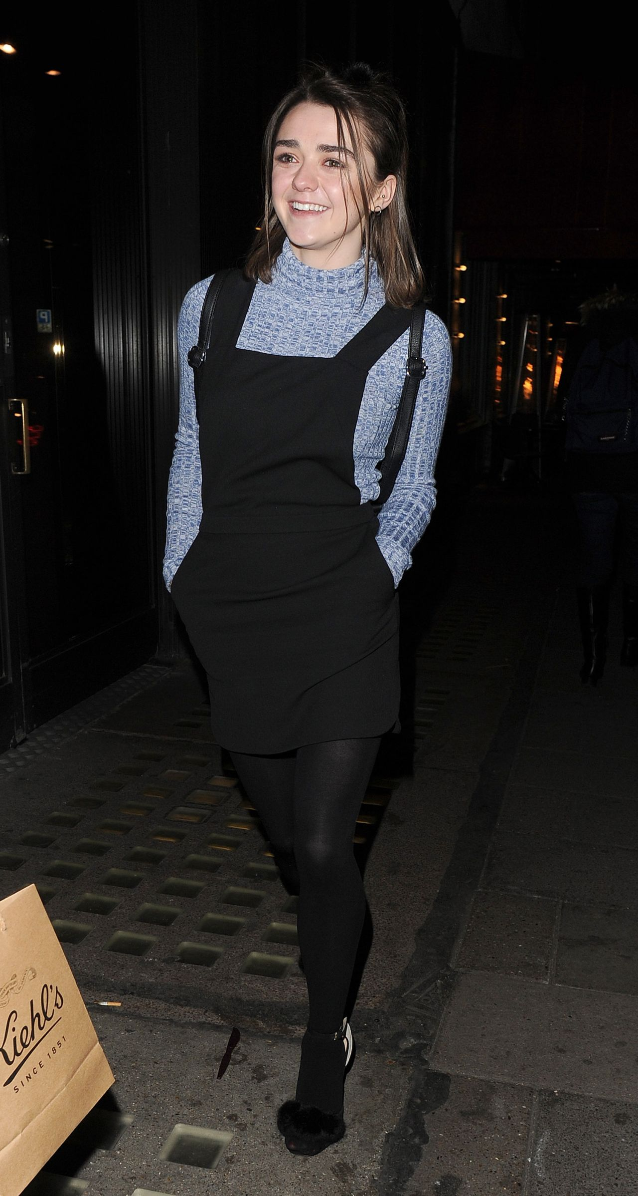 Maisie Williams Night Out - Leaving Sexy Fish Restaurant -6288