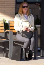 Marg Helgenberger Street Style - at Barneys New York in Beverly Hills 2/3/2016