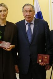 Maria Sharapova - Medal of The Order Ceremony in Moscow, February 2016