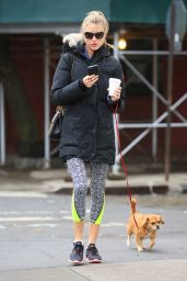Martha Hunt - Walks Her Dog in New York City 2/3/2016