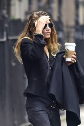 Mary Kate Olsen Wearing Skinny jeans - Out for Coffee in New York City 2/10/2016