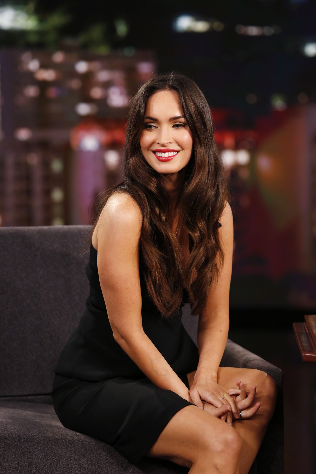 Megan Fox Appeared on 'Jimmy Kimmel Live!' Show in ... Megan Fox