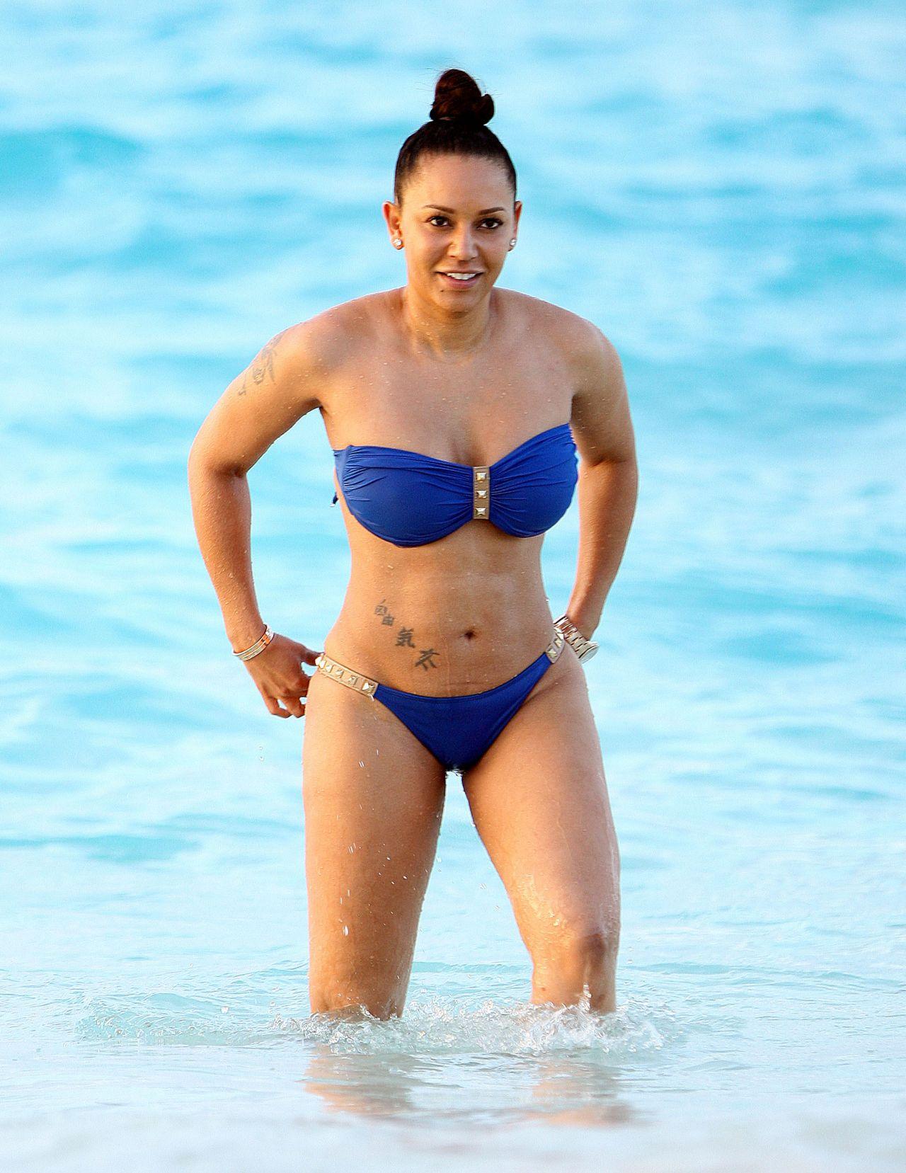 Melanie Brown Bikini Pics - Beach in Turks & Caicos ...