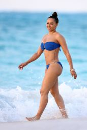 Melanie Brown Bikini Pics - Beach in Turks & Caicos, February 2016