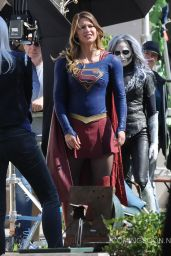 Melissa Benoist - Supergirl Set Photos - Los Angeles 2/22/2016