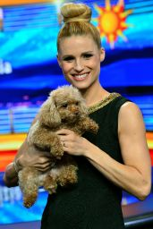 Michelle Hunziker Appeared on Canal 5 Mediaset Studios in Milan, February 2016
