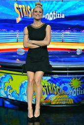 Michelle Hunziker Appeared on Canal 5 Mediaset Studios in Milan, February 2016