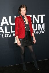 Mila Jovovich – Saint Laurent Show at The Palladium in Los Angeles 2/10/2016