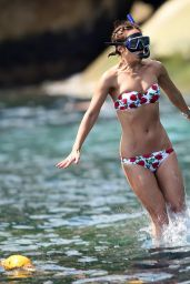 Myleene Klass Bikini Candids - at a Boat in Thai Island, January 2016