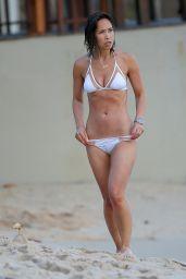 Myleene Klass in White Bikini at a Beach in Thailand 2/14/2016