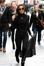 Myleene Klass - Leaving the Global Radio Studios in London 2/1/2016