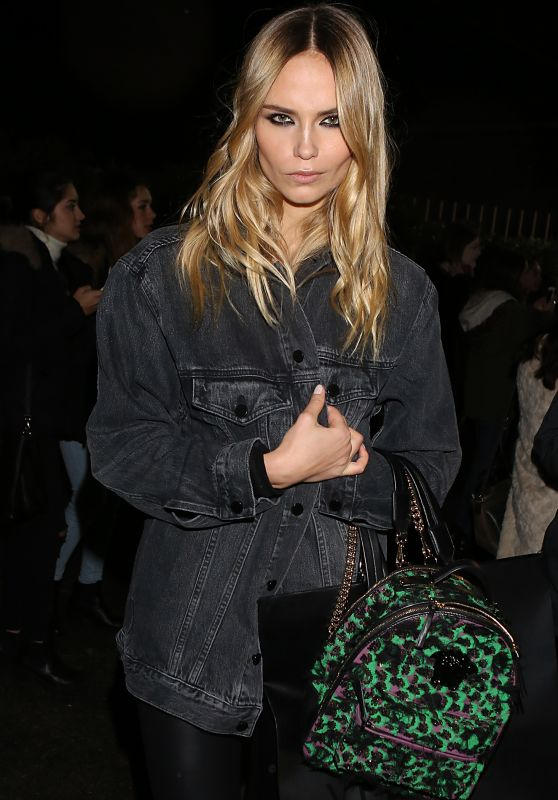 Natasha Poly - Leaving Versace FW2016 Show in Milan 2/26/2016