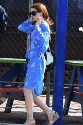Nicola Roberts - Heading to a Beach in Barbados, January 2016