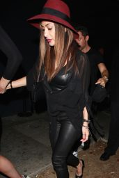 Nicole Scherzinger Night Out Style - Leaving Warwick Night Club in Hollywood 2/21/2016