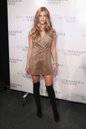 Nina Agdal – BCBGMAXAZRIA Fall 2016 Fashion Show – New York Fashion Week 02/11/2016