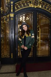 Nina Dobrev - Heading to Super Bowl 50 in San Francisco, CA