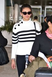 Nina Dobrev - Pearson International Airport in Toronto 2/19/2016