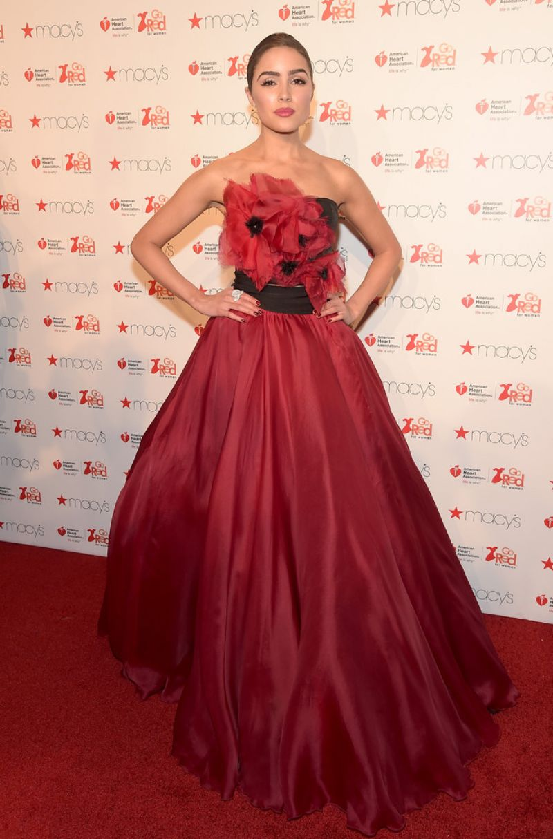 Olivia Culpo Go Red For Women Red Dress Collection 2016